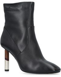 42044435e15c Steve Madden Posed Patent-effect Heeled Ankle Boots in Black - Lyst