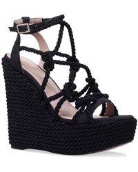 4dc0b185ae22 KG by Kurt Geiger - Black  notty  High Heel Wedge Sandals - Lyst