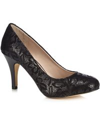 83fc24329a2 Metallic Black 'clancy' High Stiletto Heel Court Shoes