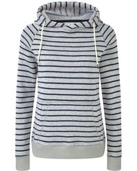 Tog 24 - Oatmeal And Navy Lockwood Striped Marl Thermal Fleece Hoody - Lyst