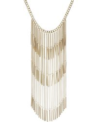 Red Herring - Gold Tassel Statement Long Necklace - Lyst