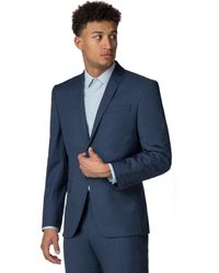 Racing Green - Bright Blue Pick And Pick Athletic Fit Jacket - Lyst