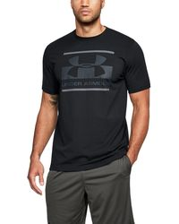 Under Armour - Black 'charged Cotton®' Blocked Sport Style Logo T-shirt - Lyst