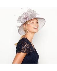 81cc7a9518e Début - Grey Shimmer Bow Flower Downbrim Hat - Lyst