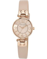 Anne Klein - Ladies Blush Pink Mini Leather Watch 10/n9442rglp - Lyst