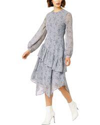 Warehouse - Anais Floral Ruffle Dress - Lyst