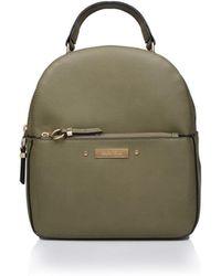 Carvela Kurt Geiger - Khaki 'blake Zip Front Backpack' Backpack Bag - Lyst