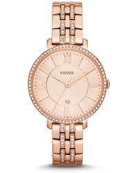 Fossil - Ladies Rose Gold Bracelet Watch Es3546 - Lyst