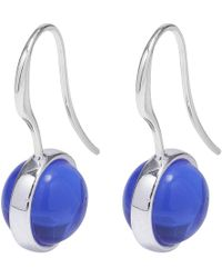 Pilgrim - Blue Silver Plated 'rumer' Drop Earrings - Lyst