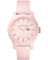 Lacoste - Women's 12.12 Light Pink Silicone Strap Watch 38mm - Lyst