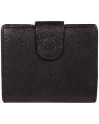 Conkca London - Black 'azaria' Leather Bi-fold Purse - Lyst