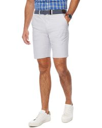 Racing Green - Light Grey Belted Oxford Chino Shorts - Lyst