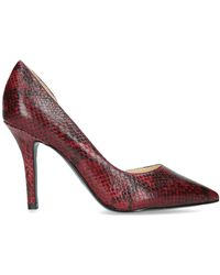 55405ffced3 Nine West - Red  just4you  Croc Print Stiletto Heeled Court Shoes - Lyst