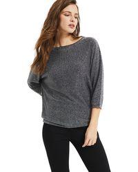 Phase Eight - Gunmetal Becca Smart Shimmer Knitted Jumper - Lyst