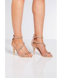 36b925c25c1 Dorothy Perkins Wide Fit Gold Bless Sandals in Metallic - Lyst