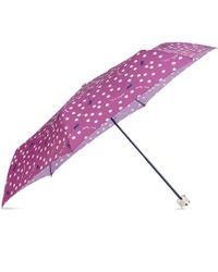 Radley - Pink Printed 'vintage Dog Dot' Mini Telescopic Umbrella - Lyst