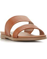 33a63769ea2f Steve Madden Walkitt Suede Gladiator Sandals in Brown - Lyst