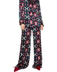 Mango - Multi Coloured Geometric Print 'agnes' Trousers - Lyst