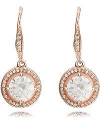 Anne Klein - Rose Gold Eurowire Earrings - Lyst