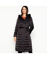 J By Jasper Conran - Black Quilted Feather And Down Hooded Coat - Lyst