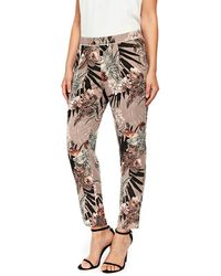 Wallis - Floral Palm Trousers - Lyst