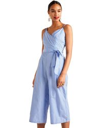 a1a7fbbd1a2e New Look Pale Pink Button Front Tie Waist Jumpsuit in Pink - Lyst