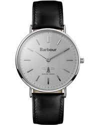 Barbour - Gents Black Quartz Strap Watch - Lyst