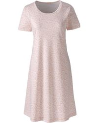 Lands' End - Pink Plus Supima Patterned Nightdress - Lyst