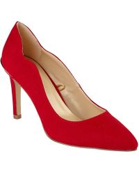 Lotus - Red Suedette 'tyler' High Stiletto Heel Court Shoes - Lyst
