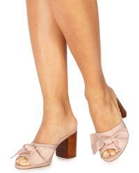 Faith - Light Pink 'daiquiri' High Block Heel Shoes - Lyst