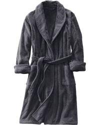 Lands' End - Grey Men's Regular 11-ounce Turkish Terry Calf-length Robe - Lyst