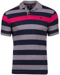 Raging Bull - Navy Irregular Stripe Polo Shirt - Lyst