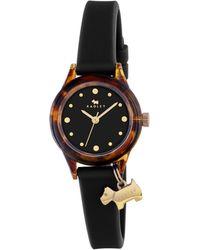 Radley - Ladies 'tortoise' With Gold Black Silicone Strap Watch Ry2324 - Lyst