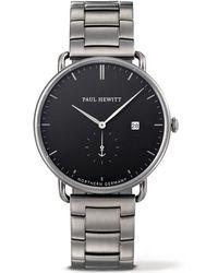 PAUL HEWITT - Men's Silver 'the Grand Atlantic' Analogue Watch Ph-tga-gm-b-4m - Lyst
