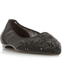 510f3201deea Dune - Black  bijou  Point Toe Diamante Embellished Slip On Shoes - Lyst
