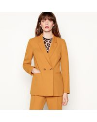 Red Herring - Gold Double Breasted Longline Blazer - Lyst