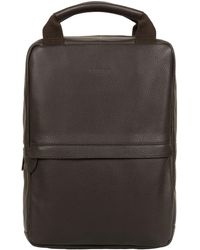 Cultured London - Dark Brown 'revolution' Buffalo Leather Backpack - Lyst