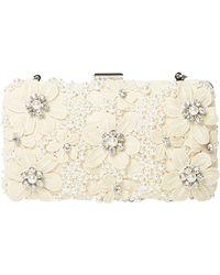 Dorothy Perkins - Ivory Floral Box Clutch Bag - Lyst