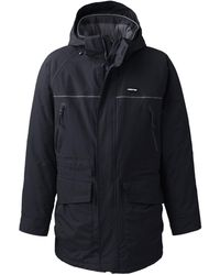 Lands' End - Black Squall Insulated Waterproof Parka - Lyst
