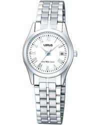 Lorus - Ladies Silver Round Dial Bracelet Watch Rxt91dx9 - Lyst