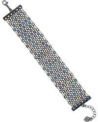 Lipsy - Rainbow Crystal Bracelet - Lyst