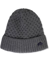 Raging Bull - Charcoal Cable Knit Beanie - Lyst