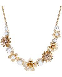 Matthew Williamson - Gold Floral Pearl Statement Necklace - Lyst
