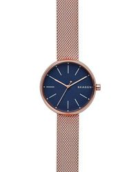 Skagen - Ladies Rose Quartz Bracelet Watch - Lyst