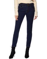 J By Jasper Conran Dark Blue 'lift And Shape' High-waisted Straight Leg Jeans