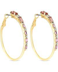 Lipsy - Blush Pink Crystal Hoop Earrings - Lyst