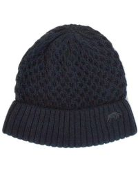 Raging Bull - Navy Cable Knit Beanie Hat - Lyst