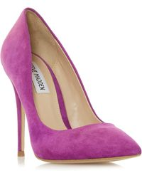 9a752367b63 Steve Madden Paiton Lace Detail Stiletto Heel Court Shoes in Black ...
