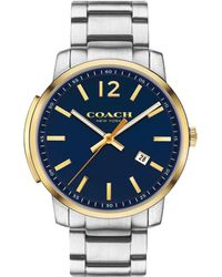 COACH - Men's Silver 'bleecker Slim' Watch - Lyst