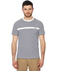 Fred Perry - Navy And White Striped T-shirt - Lyst